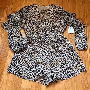 "NEW Guess ""Leopard Camo"" Pixie Romper"